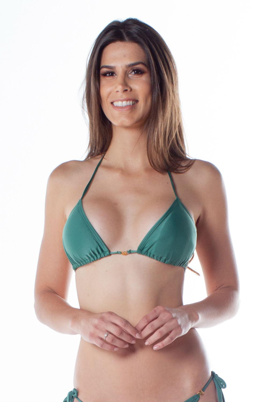 Top Cortininha Avulso Com Bojo Verde 101387 Lua Morena