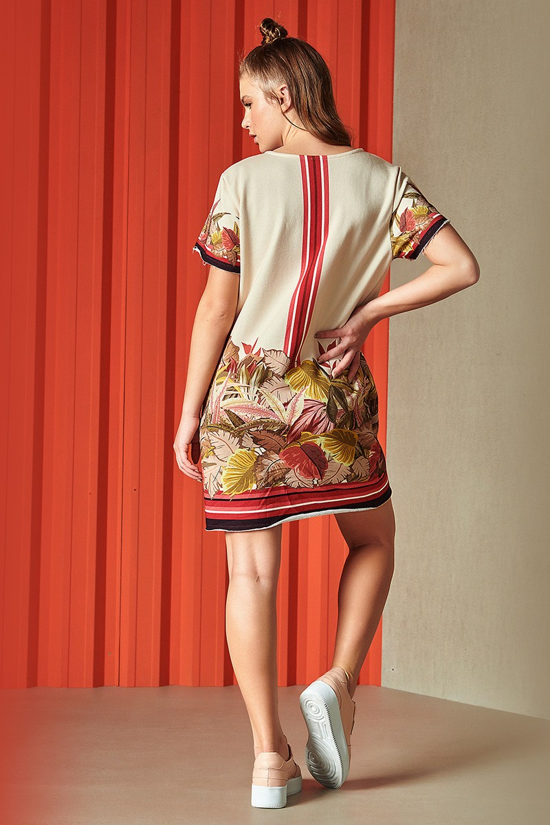 Vestido Curto Moletom Feminino Estampado Nara 0445700188 Colcci By Colcci