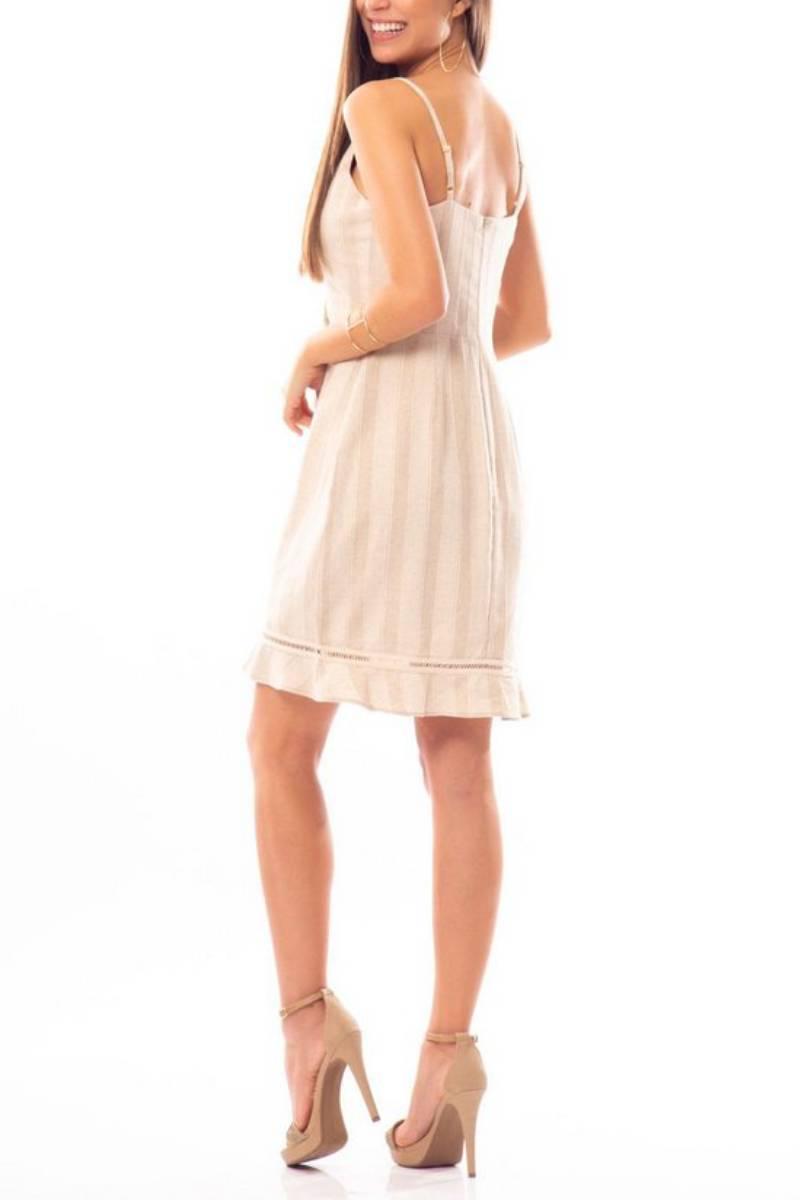 Vestido Linho Happy Hour Natural 303376 Bana Bana