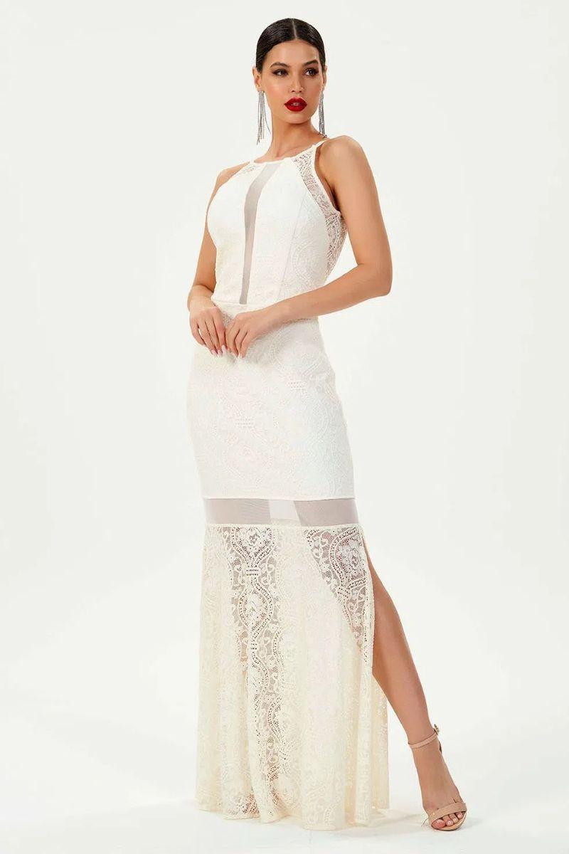Vestido Longo Peace 20752 Off White Gatabakana