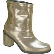 Bota Salto Grosso Ankle Boot Faixa Lateral 122.05.033 | Dourado