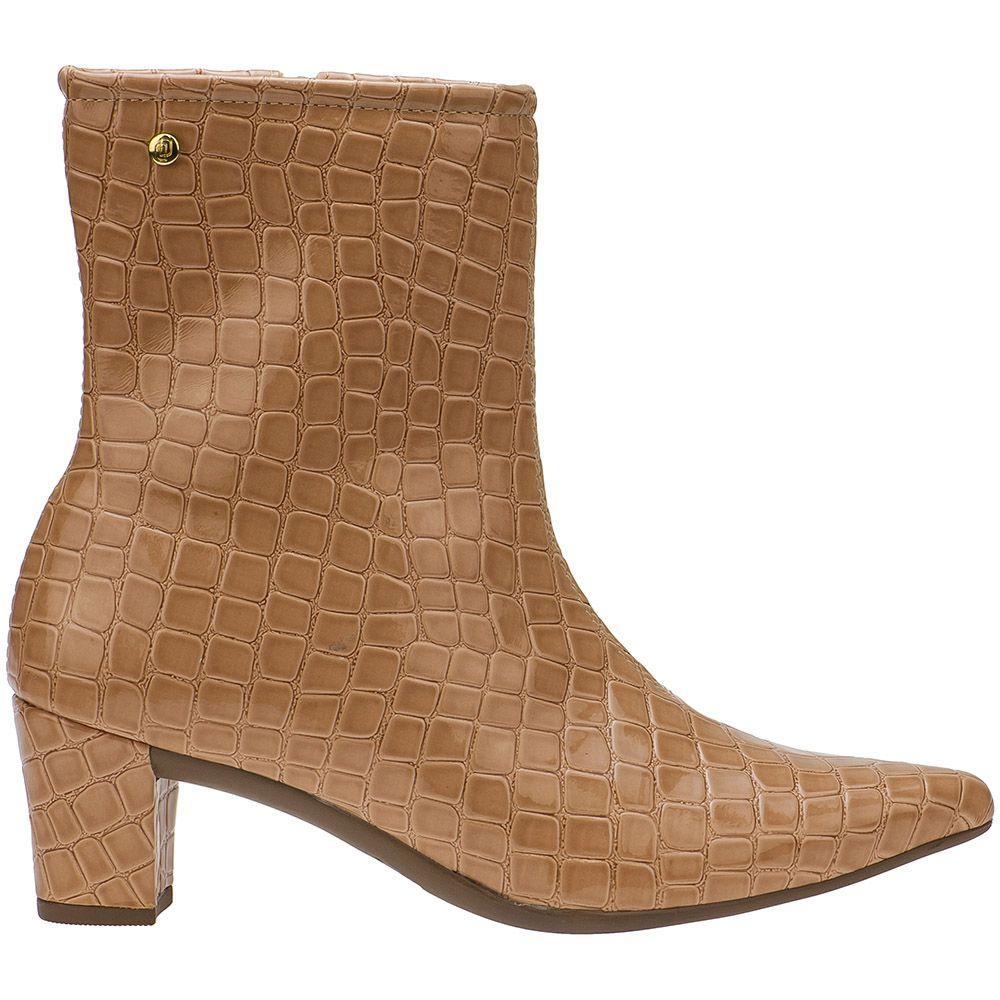 Bota Couro Cano Curto Shoestock Patchwork Feminina | Shoestock