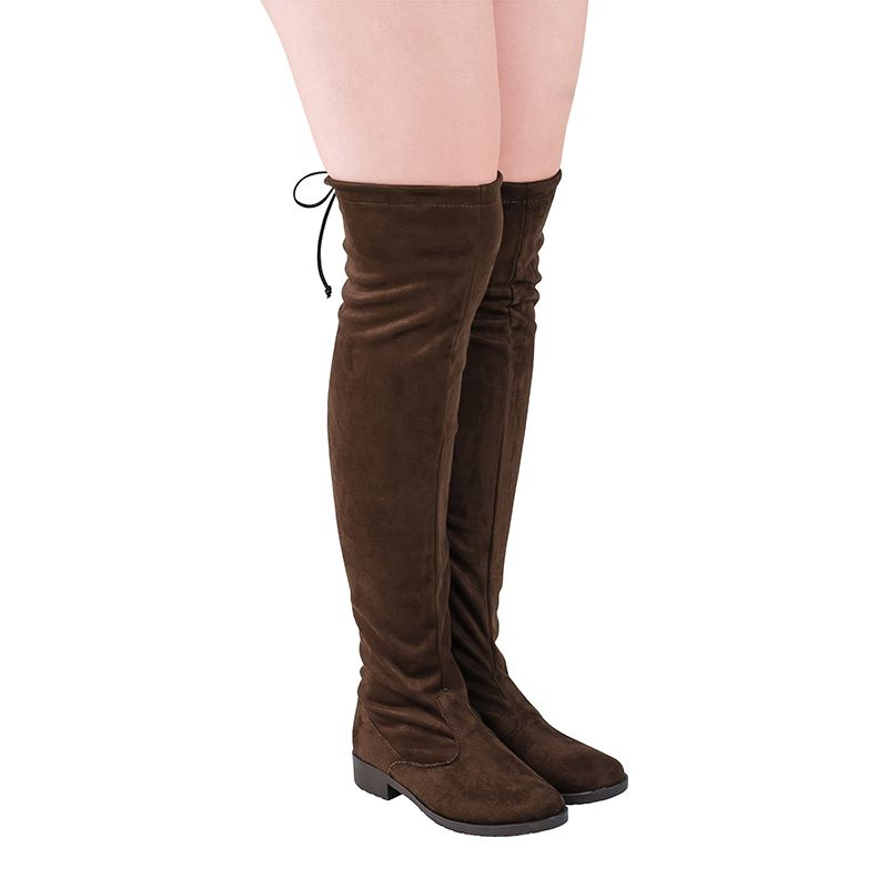 Bota Montaria Over The Knee com Camurça Stretch 103.04.010 | Café