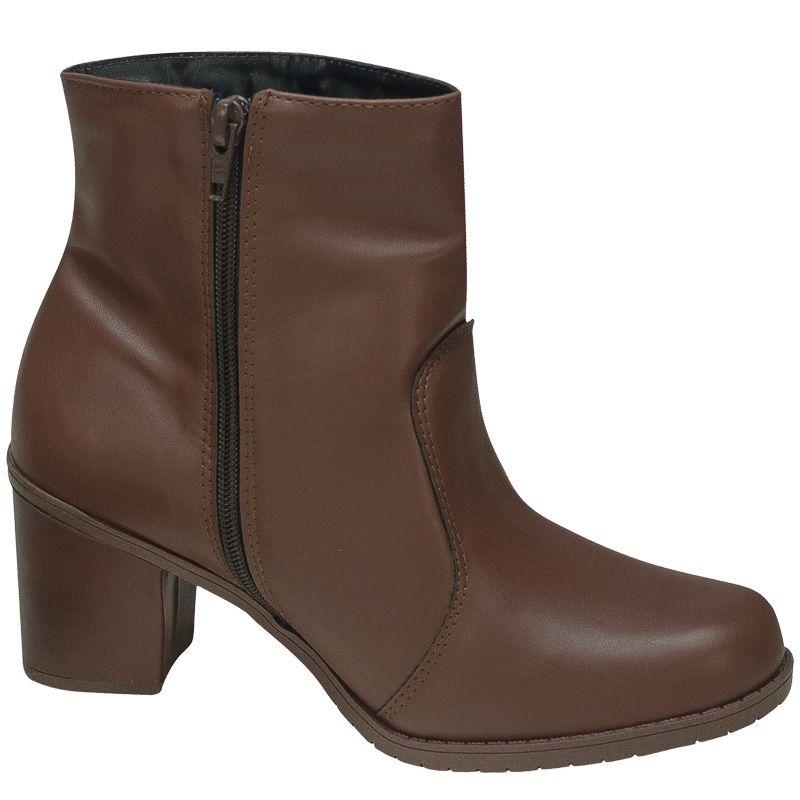 Bota Salto Grosso Ankle Boot Apliques 122.06.010 | Café