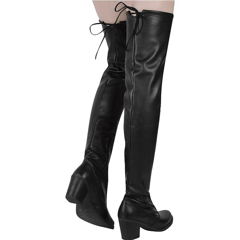 Bota Salto Grosso Over The Knee Napa Stretch 122.04.009 | Preto