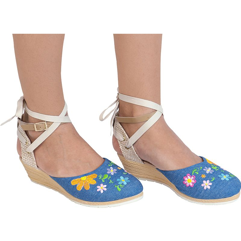 Sandália Anabela Infantil 67.56.031 | Jeans azul