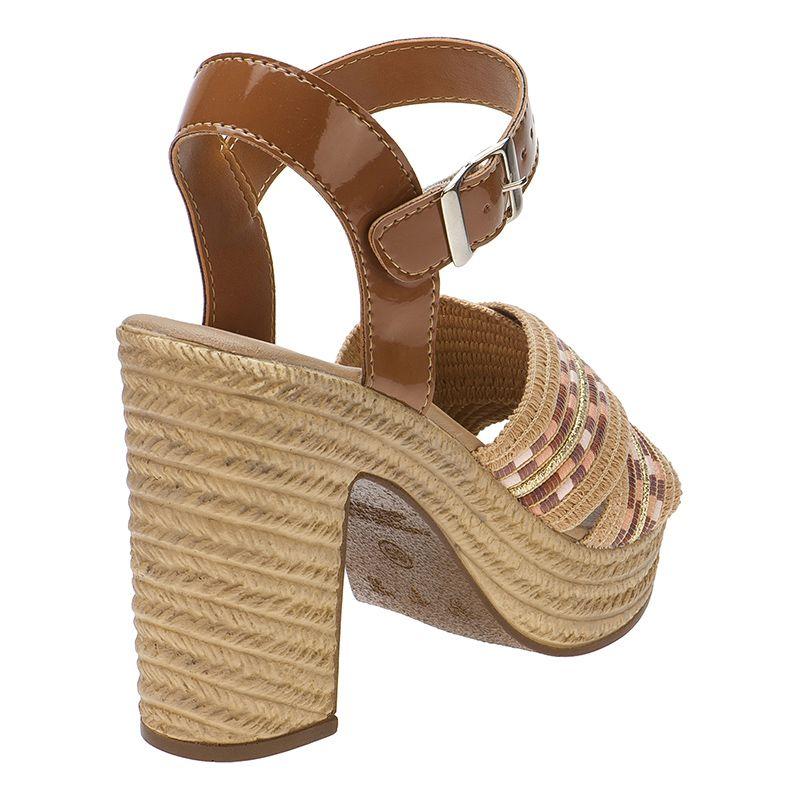 Sandalia Salto Alto Tira Dupla 116.10.019 | Caramelo