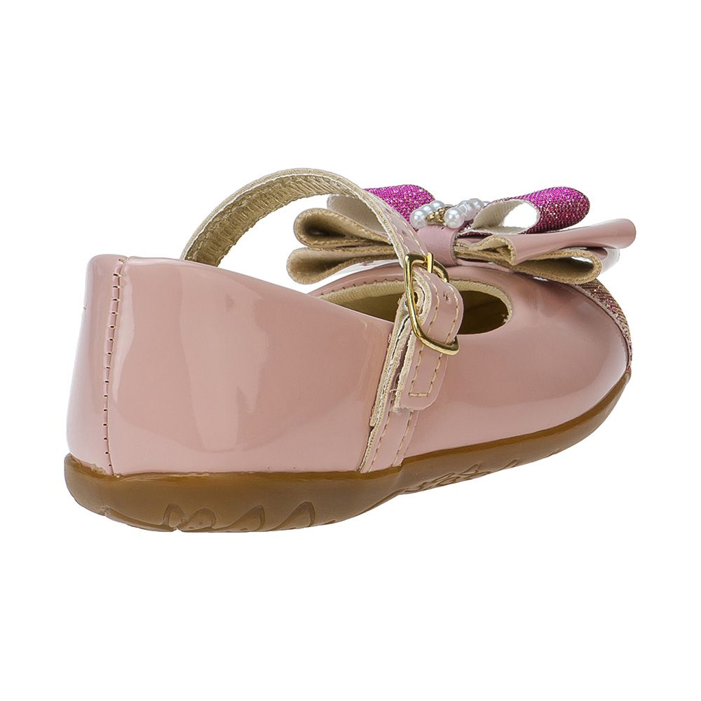 Sapatilha Menina Fashion Infantil Feminina bebê laço strass glitter 129.04.002 | Rosa
