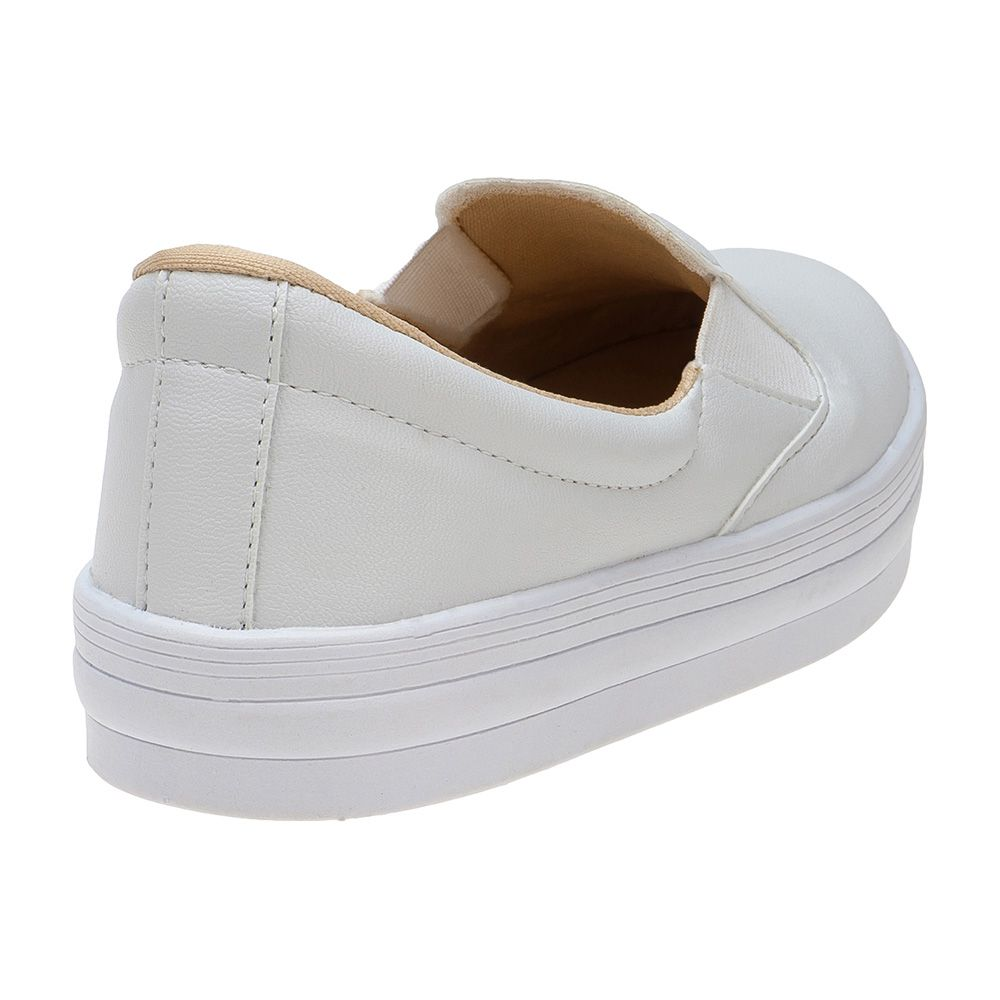 Slip On Menina Fashion Feminino Infantil 155.195.001 | Branco