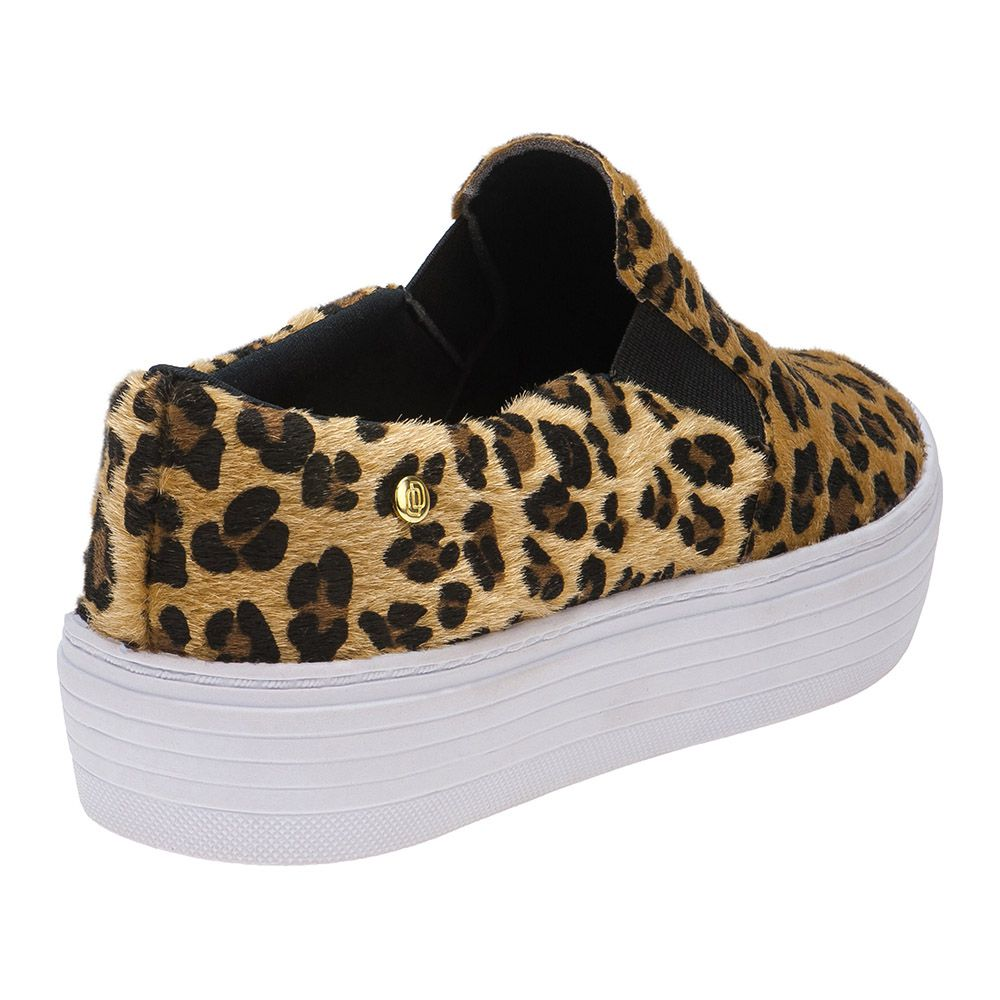 Tênis Slip On Feminino Animal Print 111.30.025 | Onça