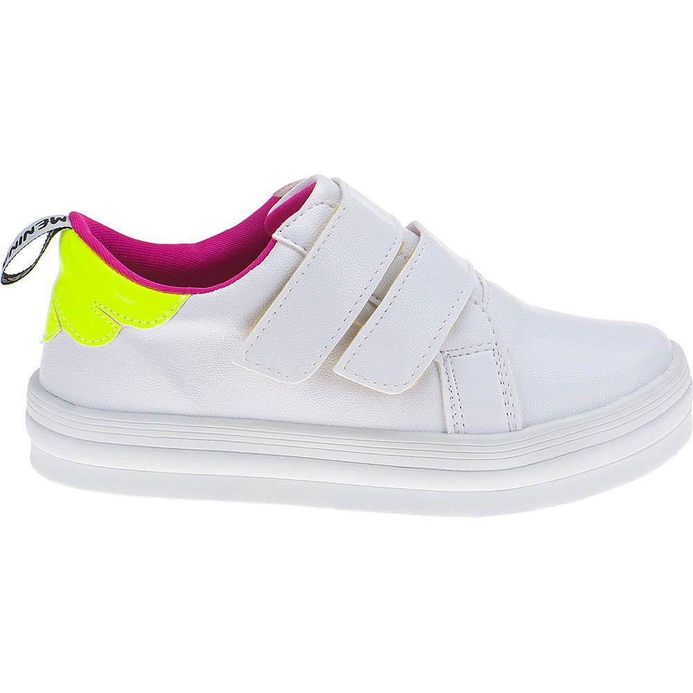 Tênis Casual Infantil Menina Fashion Detalhe Neon Velcro 155.209.001 | Branco