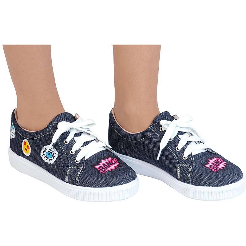 Tênis Infantil Jeans Patches 155.69.031 | Azul Escuro