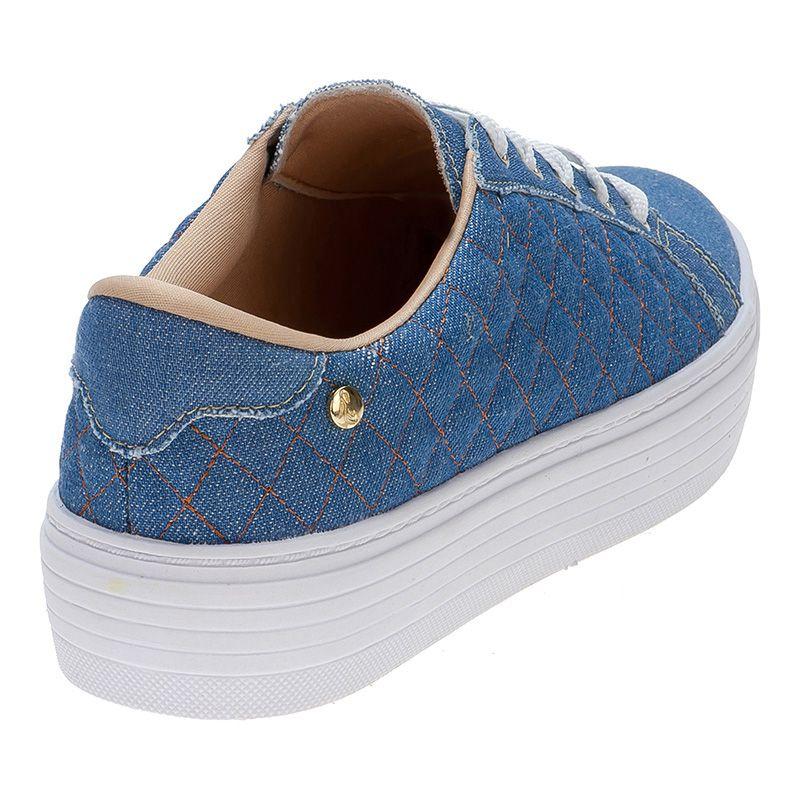 Tênis Casual Matelasse 111.22.031 | Jeans azul