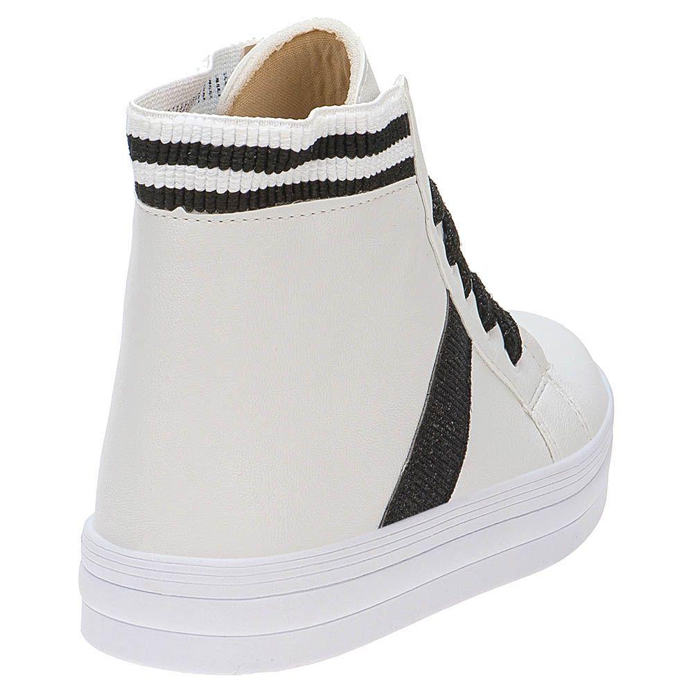 Tênis Casual Menina Fashion Cano Alto 155.198.001 | Branco