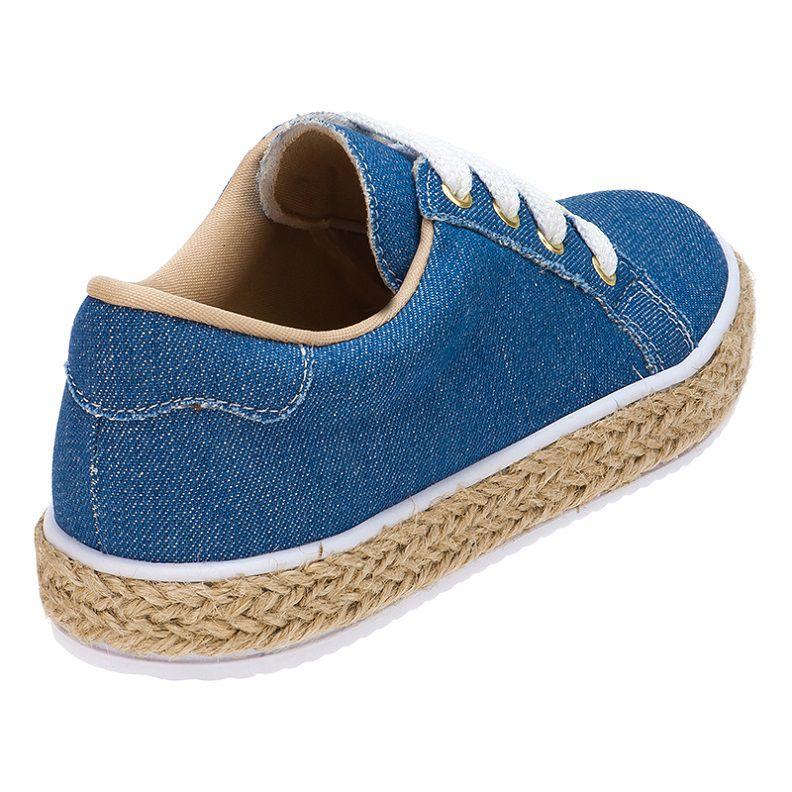 Tenis Feminino Casual Infantil Sola De Corda 155.192.031   Jeans Azul