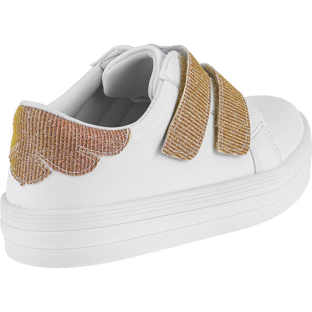 Tênis Infantil Menina Fashion Feminino Velcro Glitter 155.210.001 | Branco