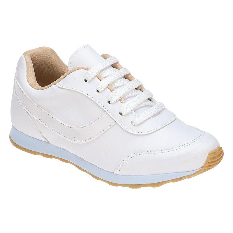 Tênis Jogging Listra Liso 156.24.001 | Branco
