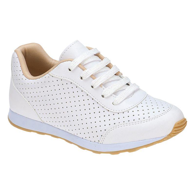 Tênis Jogging Perfurado Infantil 156.22.001 | Branco