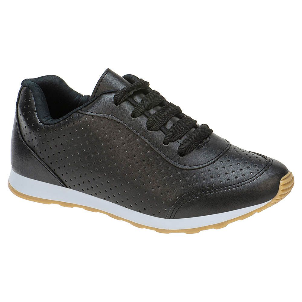Tênis Jogging Perfurado Infantil 156.22.009 | Preto