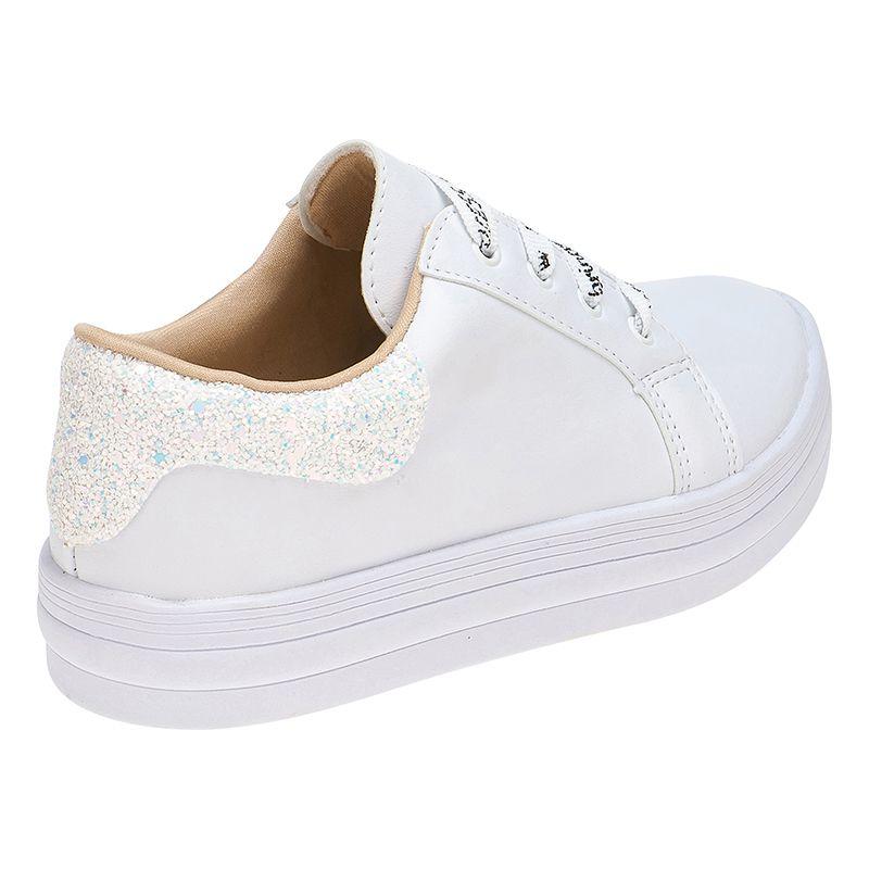 Tênis Menina Fashion Cordão Princess 155.132.001 | Branco
