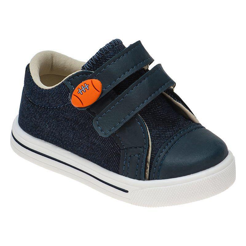 Tênis Menino Pé com Passo Velcro 159.01.031 | Jeans Azul
