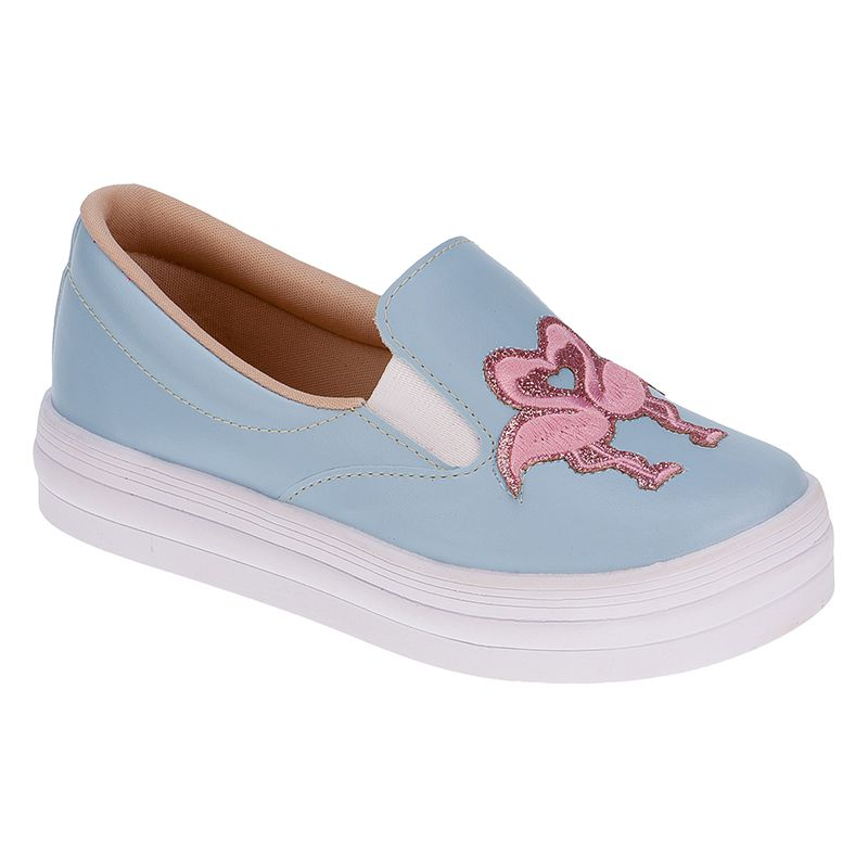 Tenis Slip On Infantil Menina Fashion Iate Flamingo 155.125.089 ... 0b07de33c69ef