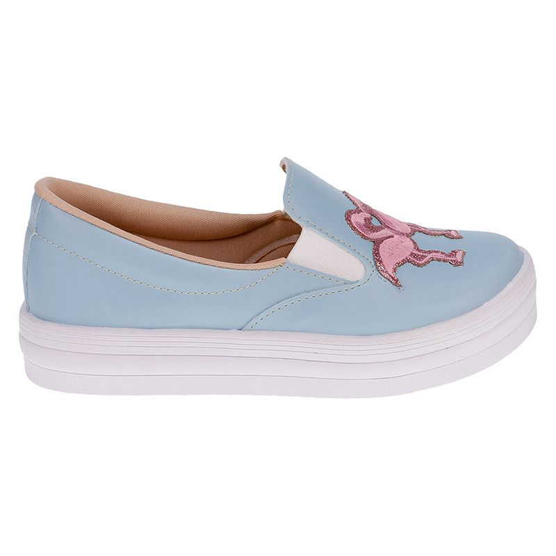 Tenis Slip On Infantil Menina Fashion Iate Flamingo 155.125.089   Azul bebe