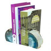 Porta  Livro em Ágata Azul - 13 x 8cm