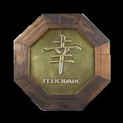 Oitavado  Decorativo Símbolo Felicidade - 18cm
