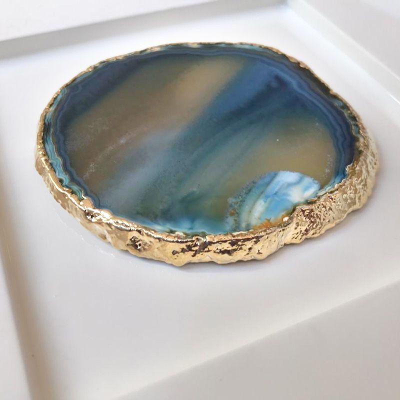 Quadro Bem Estar Pedra Ágata Azul