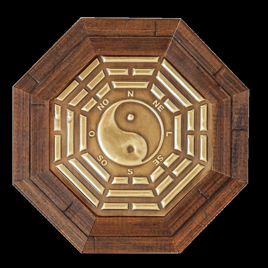 Oitavado Símbolo Baguá Yin-yang - 18,5cm