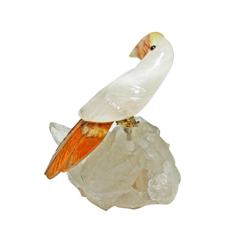 Pássaro de Pedra Natural 6x7cm