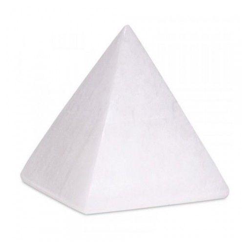 Piramide para Meditação Selenita Branca - 3 x 4cm