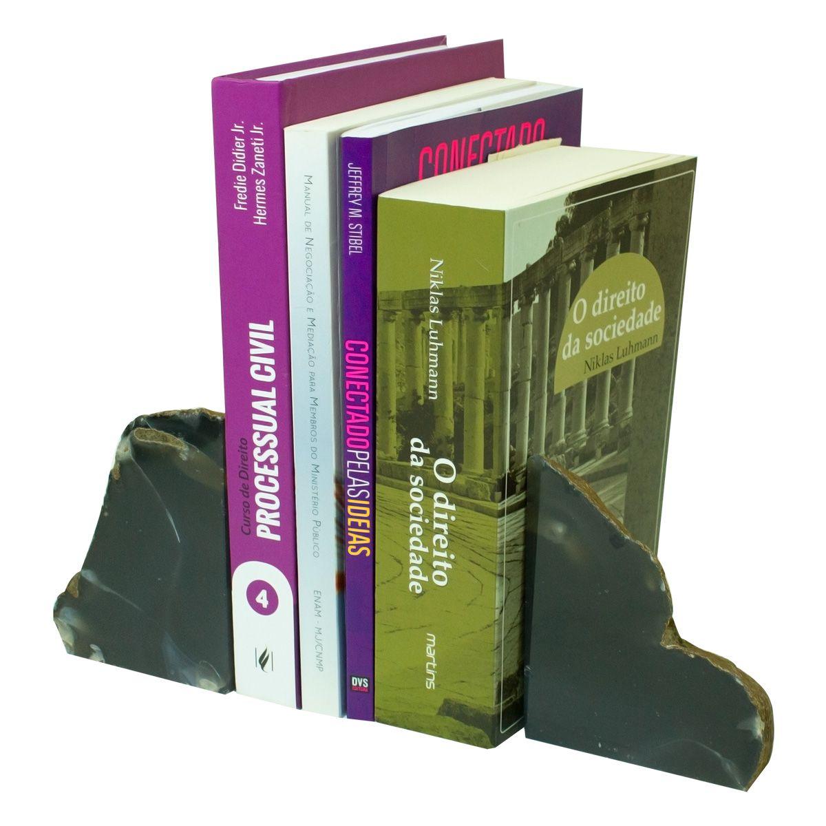 Porta  Livro em Ágata Fumê- 18 x 11cm