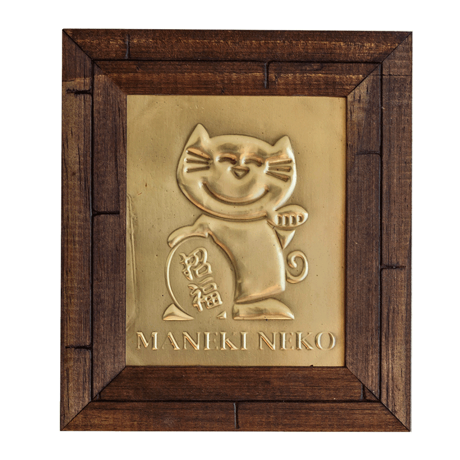 Quadro  Decorativo Símbolo Maneki Neko - 15cm