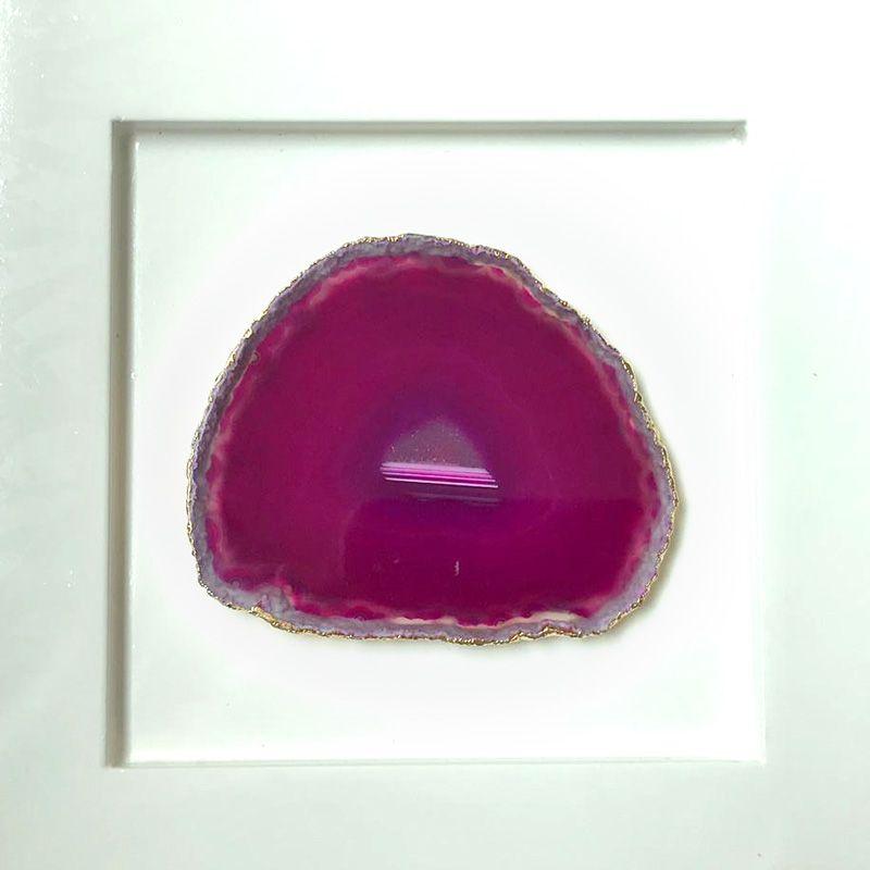 Quadro Pedra Ágata Rosa