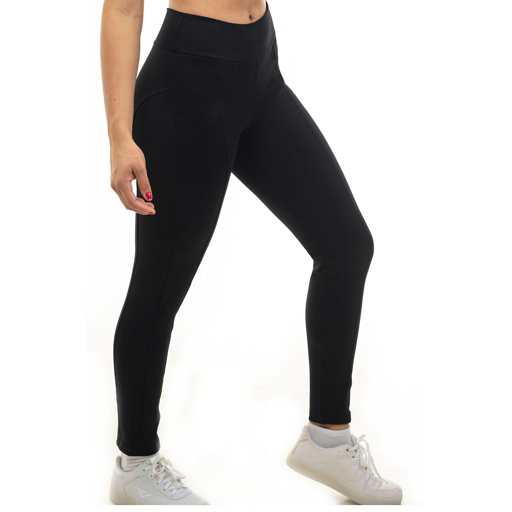 3d2489422 Legging Lisa Montaria Cós Largo Preta - Analu Moda Feminina