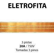 Eletrofita 3 Pistas 15 Metros 750V 20A