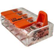 Kit 10 Conector Wago Emenda 5 Fios Mod. 221-615