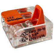 Kit 12 Conector Wago Emenda 3 Fios Mod. 221-613