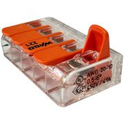 Kit 20 Conector Wago Emenda 5 Fios Mod. 221-615