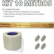 Kit Eletrofita 2 Pistas 10m 10A + Malha e Conector