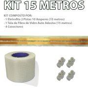 Kit Eletrofita 2 Pistas 15m 10A + Malha + Conector