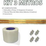 Kit Eletrofita 2 Pistas 3 Metros 750V 10A