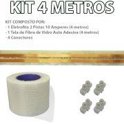 Kit Eletrofita 2 Pistas 4 Metros 750V 10A