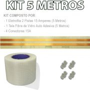 Kit Eletrofita 2 Pistas 5 Metros 750V 15A