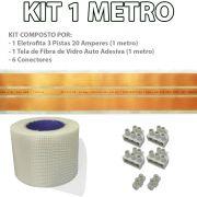 Kit Eletrofita 3 Pistas 1 Metros 750V 20A