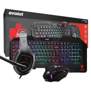 Kit Teclado Gamer Led Mouse Usb headphone Mousepad EG50