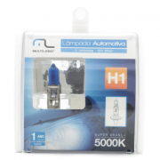Par de Lâmpadas Automotiva H1 12V 55 Watts Super Branca 5000
