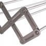 Varal de Parede Sanfonado Aluminio Mor 1 metro